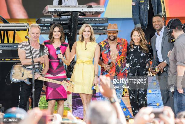 Sting Cecilia Vega Lara Spencer Shaggy Ginger Zee and Michael Strahan attend Good Morning America at SummerStage at Rumsey Playfield Central Park on...