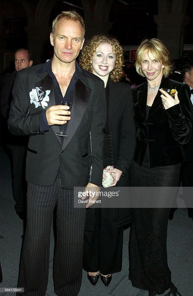 Sting, Chelsea Clinton And Trudie Styler, The Old Vic Theatre Benefit Party Held At The Old Vic Theatre London.