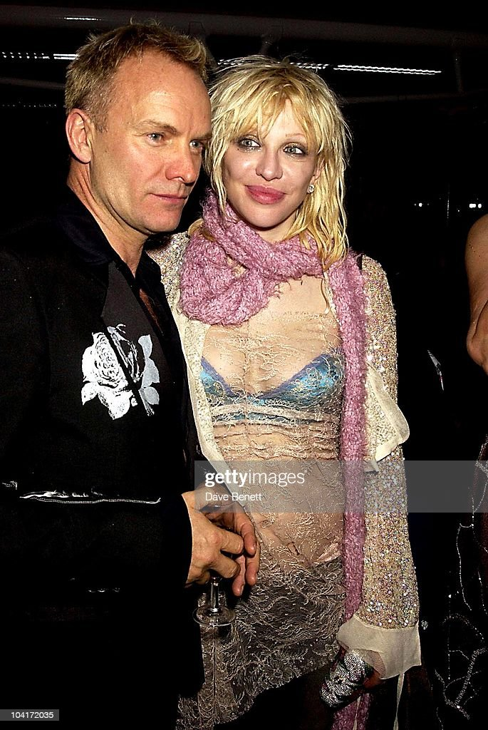 Sting & Courtney Love, The Old Vic Theatre Benefit Party Held At The Old Vic Theatre London.
