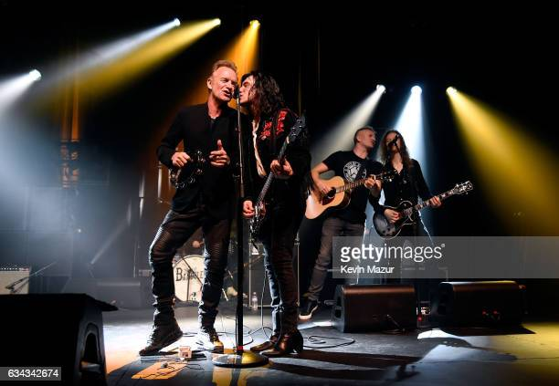 Sting Diego Navaira and Joe Sumner perform onstage to kick off Citi Sound Vault a new live music platform curated exclusively for Citi cardmembers at...