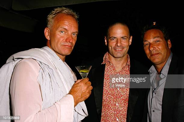 """Sting, Dito Montiel and Henry Winterstern during The 63rd International Venice Film Festival - """"The Fountain"""" After Party in Venice Lido, Italy."""