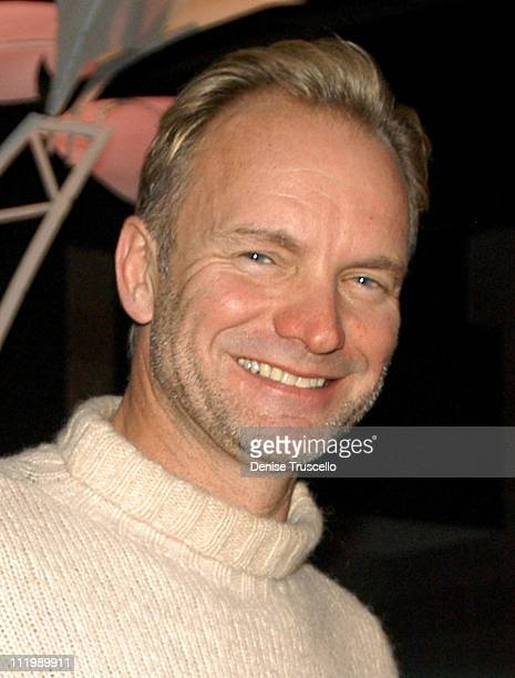 Sting during 2003 Billboard Music Awards Backstage Creations Gift Retreat Day 1 at MGM Grand Hotel And Casino Resort in Las Vegas Nevada
