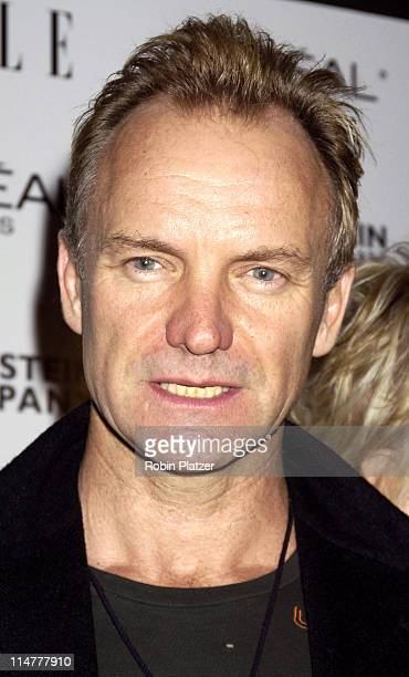Sting during Derailed New York City Premiere at Loews Theatre Lincoln Square in New York City New York United States