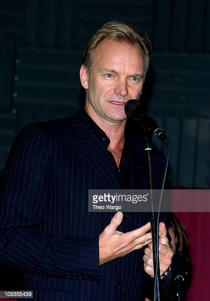 Sting during Dominic Miller Record Release Party and Performance at Joes Pub in New York City New York United States