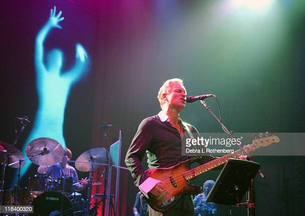 Sting during Sting in Concert on Sacred Love Tour 2004 March 2 2004 at Beacon Theater in New York City New York United States