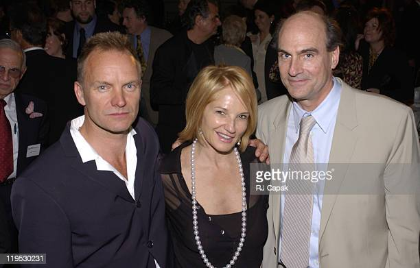 Sting, Ellen Barkin & James Taylor during NRDC's 4th Annual Forces For Nature Gala Event Honoring Trudie Styler, Dan Tishman And Gary Trudeau With...