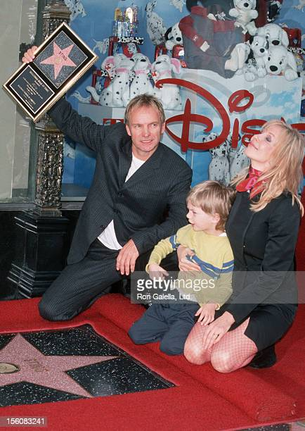Sting Giacomo Sumner and Trudie Styler during Sting Honored with a Star on the Hollywood Walk of Fame at Hollywood Boulevard in Hollywood California...