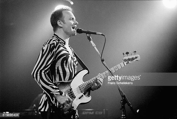 Sting, guitar and vocals, performs at the Paradiso on March 10th 1996 in Amsterdam, Netherlands.
