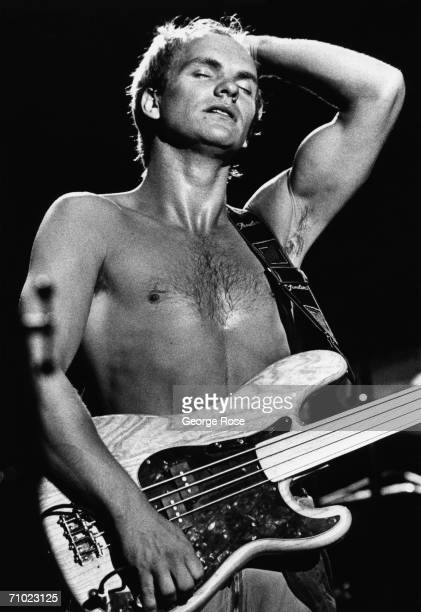 Sting lead singer of The Police performs onstage during a 1979 concert at the Civic Auditorium in Santa Monica California
