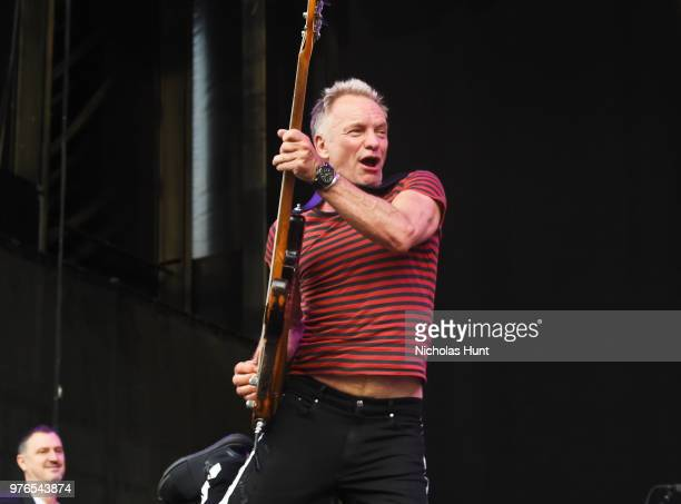 Sting performs at 1035 KTU's KTUphoria on June 16 2018 in Wantagh City