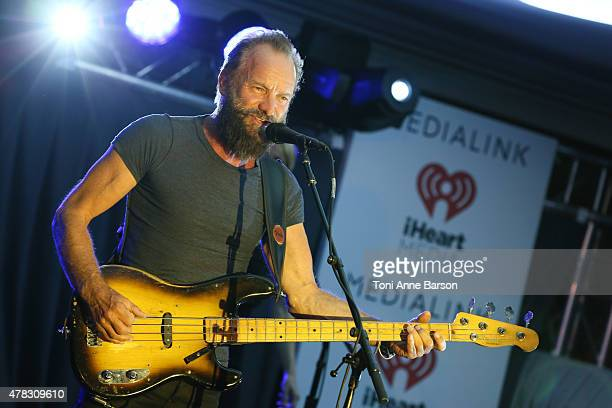 Sting performs at a dinner party hosted by iHeartmedia ad Medialink at Hotel du CapEdenRock in Antibes France during the Cannes Lions Festival