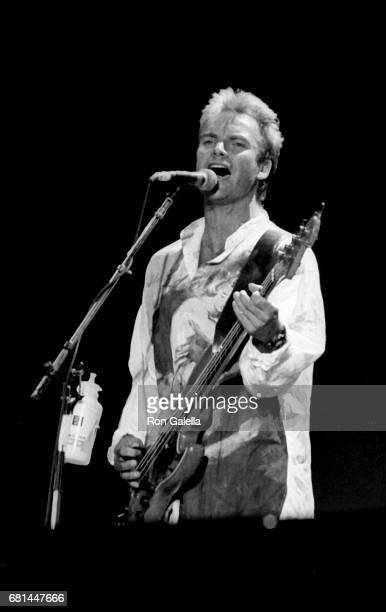 Sting performs at Amnesty International Concert on June 15 1986 at Giants Stadium in East Rutherford New Jersey