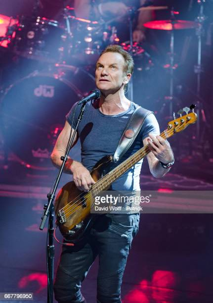 Sting performs at L'Olympia on April 12, 2017 in Paris, France.