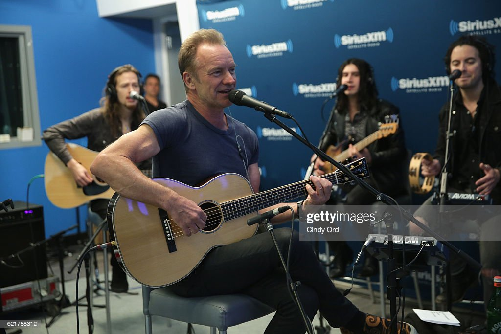 Sting performs at The SiriusXM Studios on November 8, 2016 in New York City.