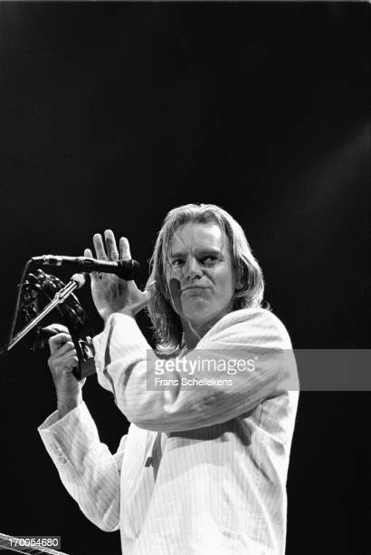 Sting performs at the Statenhal in the Hague, the Netherlands on 16th April 1988.