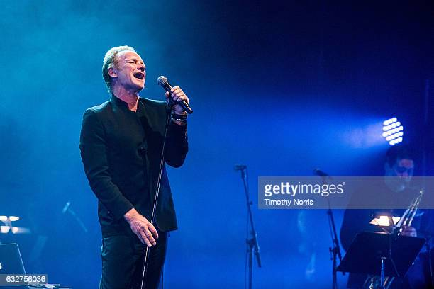 Sting performs during a night of celebrating David Bowie at The Wiltern on January 25, 2017 in Los Angeles, California.