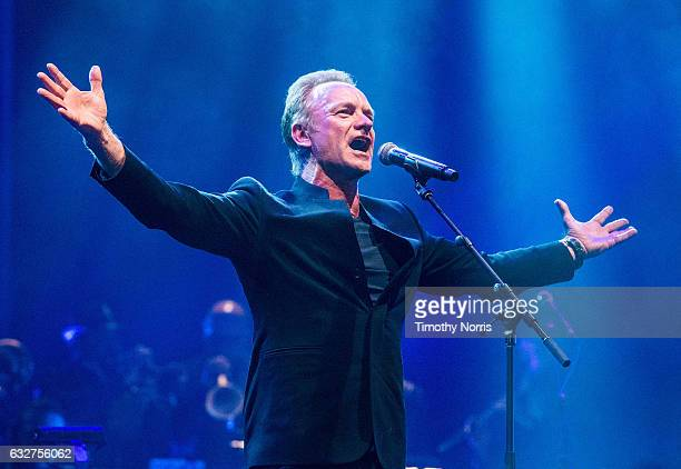 Sting performs during a night of celebrating David Bowie at The Wiltern on January 25 2017 in Los Angeles California
