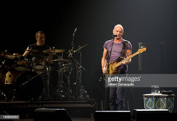 Sting performs during Sting's Back to Bass tour at Tower Theater on October 26 2011 in Philadelphia Pennsylvania
