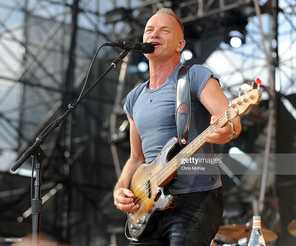 Sting performs during the 2013 Big Dance Concert Series at Centennial Olympic Park on April 7, 2013 in Atlanta, Georgia.