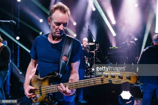 Sting performs during 'The Late Late Show with James Corden' Tuesday January 31 2017 On The CBS Television Network