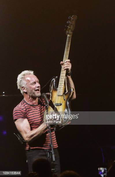 Sting performs during the Sting Shaggy The 44/876 Tour at Fillmore Miami Beach on September 15 2018 in Miami Beach Florida