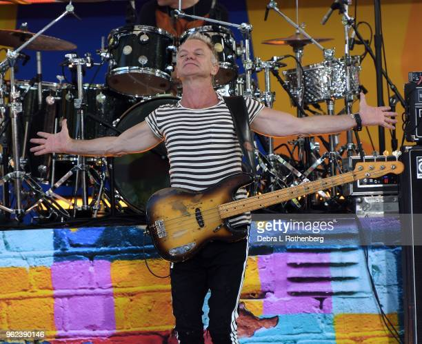 Sting performs on ABC's Good Morning America's Summer Concert Series at Rumsey Playfield Central Park on May 25 2018 in New York City