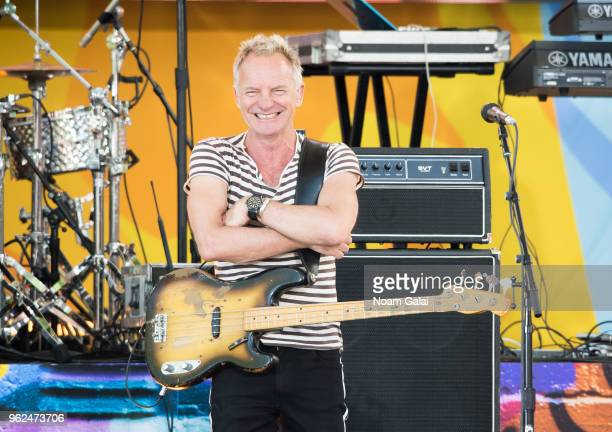 Sting performs on Good Morning America at SummerStage at Rumsey Playfield Central Park on May 25 2018 in New York City