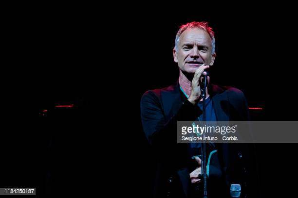 Sting performs on stage at Mediolanum Forum on October 29 2019 in Milan Italy