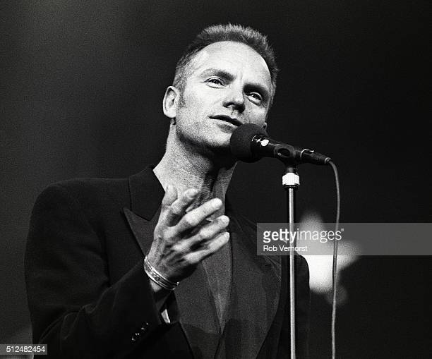Sting performs on stage at Night of the Proms Ahoy Rotterdam Netherlands 30th November 1993