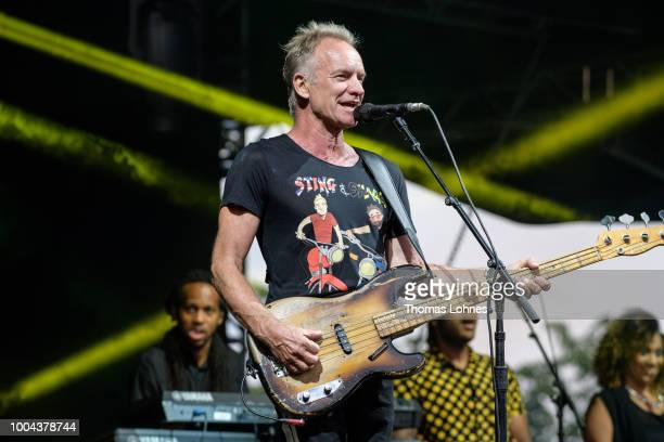 Sting performs on stage at Schloss Salem on July 23 2018 in Salem Germany Shaggy attends Sting on his European Tour 2018 in 10 countries with 30...