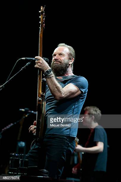 Sting performs on stage at the 'Cap Roig Festival 2015' on July 10 2015 in Girona Spain