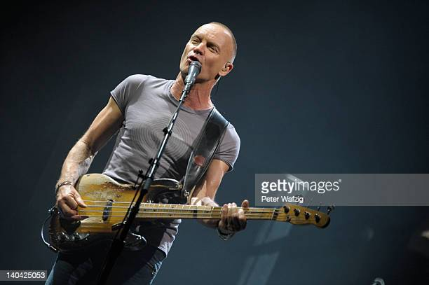 Sting performs on stage at the EWerk on March 02 2012 in Cologne Germany