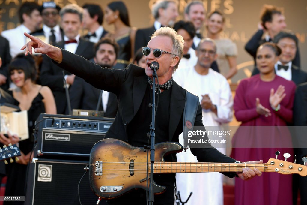 Sting Performs To Close The 71st Annual Cannes Film Festival