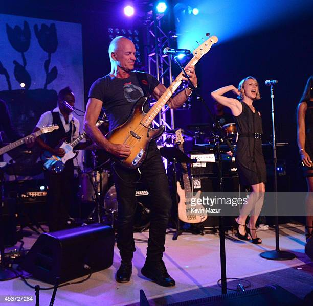 Sting performs onstage at Apollo in the Hamptons at The Creeks on August 16 2014 in East Hampton New York