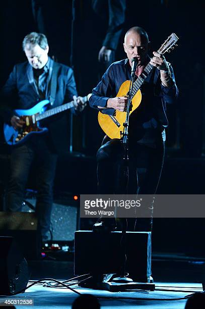 Sting performs onstage during the 68th Annual Tony Awards at Radio City Music Hall on June 8 2014 in New York City