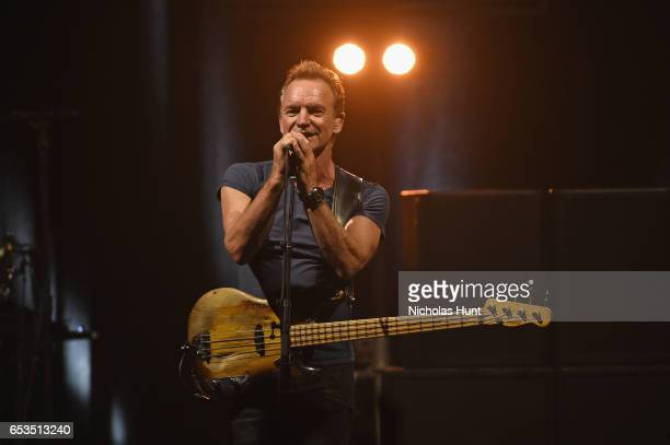 Sting performs onstage during the Sting '57th 9th' World Tour at Hammerstein Ballroom on March 14 2017 in New York City
