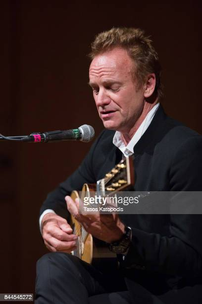 Sting performs 'The Empty Chair' at Smithsonian National Museum Of American History on September 8 2017 in Washington DC