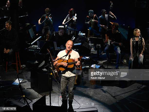 Sting performs The Last Ship to benefit The Public Theater on September 25 2013 in New York City