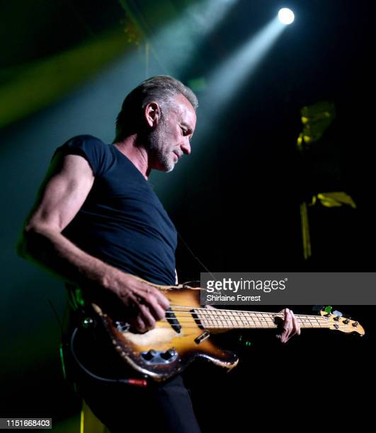 Sting performs with Shaggy on stage at O2 Apollo Manchester on May 25 2019 in Manchester England