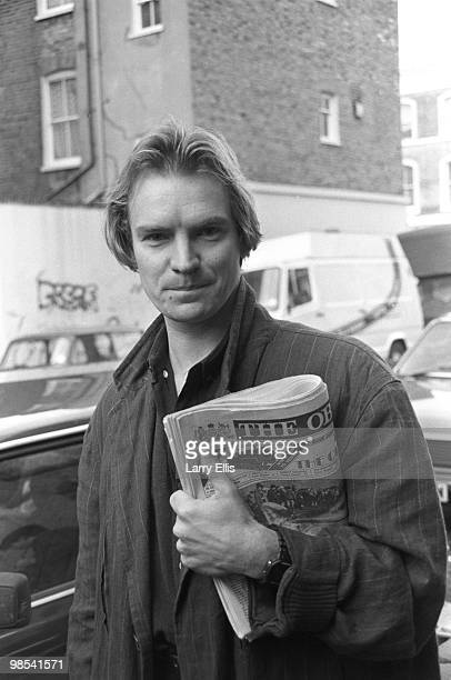 Sting pictured outside SARM Studios in Notting Hill London during the recording of the Band Aid single 'Do They Know It's Christmas' part of the Feed...