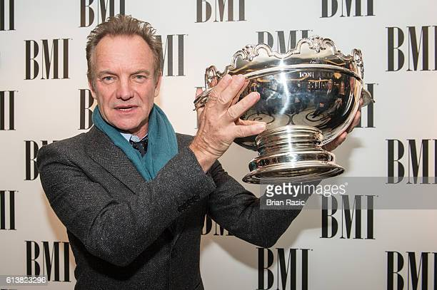 Sting recipient of the BMI Icon Award at BMI London Awards on October 10 2016 in London England