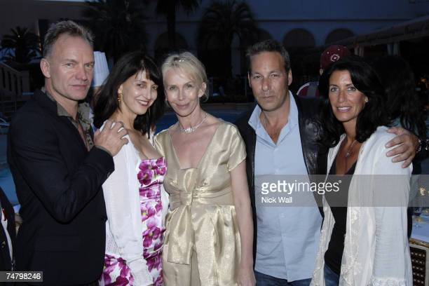 Sting, Ruth Vitale, Trudie Styler, Henry Winterstern and his wife in Cannes, France.