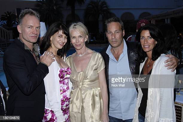 Sting, Ruth Vitale, Trudie Styler, Henry Winterstern and his wife