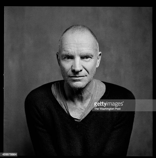 Sting sits for a portrait on the set of The Last Ship in The Neil Simon Theatre New York NY on November 12th 2014 The 16time Grammy Award winning...