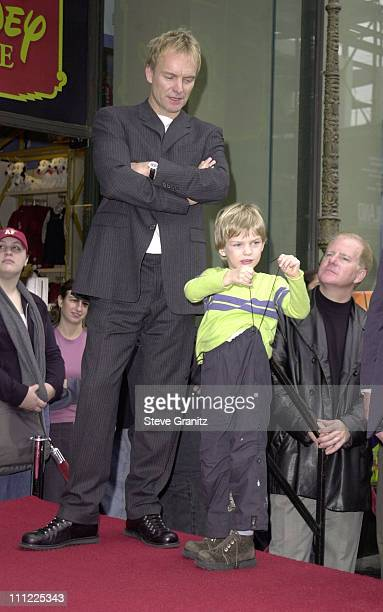 Sting Son Giacomo during Sting Honored with a Star on the Hollywood Walk of Fame at Hollywood Boulevard in Hollywood California United States