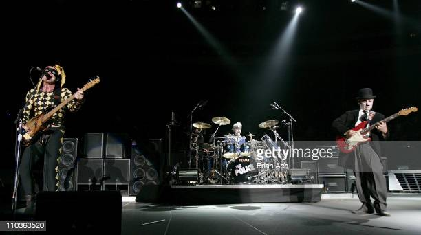 Sting Stewart Copeland and Andy Summers of The Police perform in concert on Halloween Night October 31 2007 at Madison Square Garden in New York City