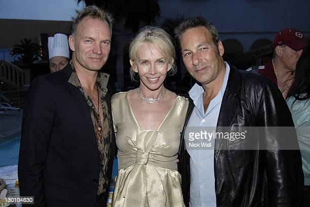 """Sting, Trudie Styler and Henry Winterstern during 2006 Cannes Film Festival - """"A Guide To Recognizing Your Saints"""" Dinner in Cannes, France."""