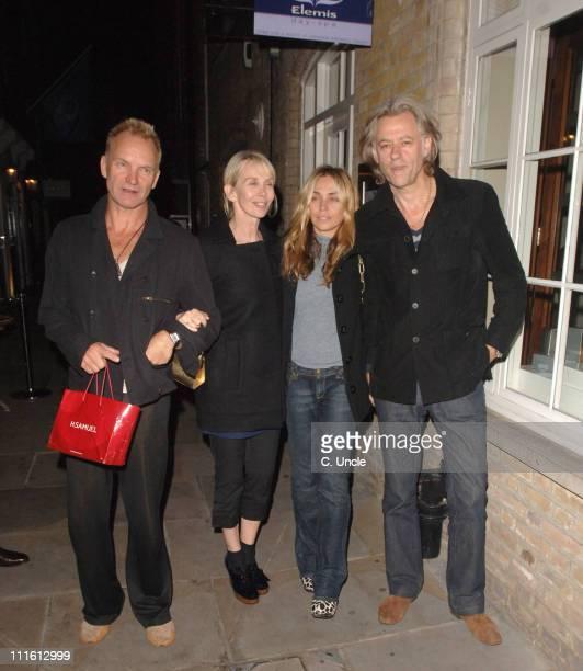 Sting Trudie Styler Jeanne Marine and Bob Geldof