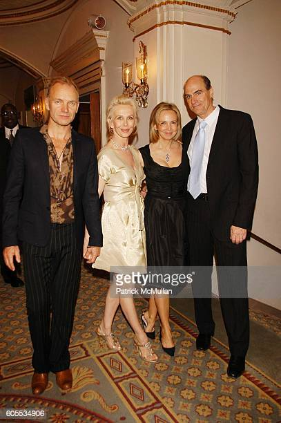 Sting Trudie Styler Kim Smedvig and James Taylor attend Rainforest Foundation Fund Benefit Concert Dinner at Pierre Hotel NYC on May 19 2006 in New...