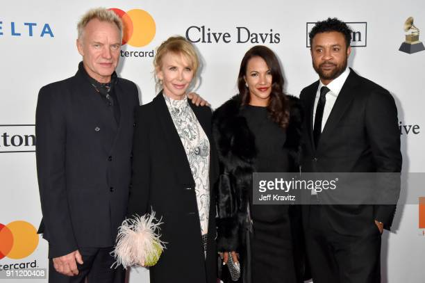 Sting Trudie Styler Rebecca Packer and Shaggy attend the Clive Davis and Recording Academy PreGRAMMY Gala and GRAMMY Salute to Industry Icons...